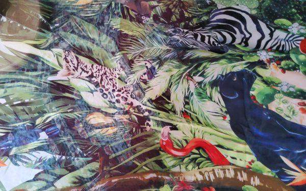 20200308 165710 Jungle Elephant Print Chiffon fabric/ 2020collection fabric/Italian Designer Fabrics 3