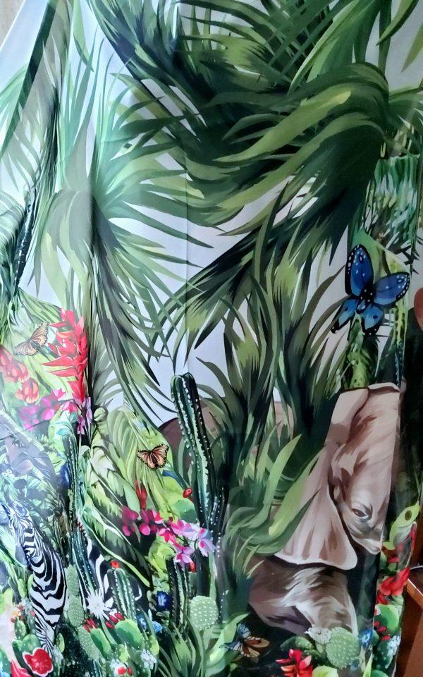20200308 170359 Jungle Elephant Print Chiffon fabric/ 2020collection fabric/Italian Designer Fabrics 5