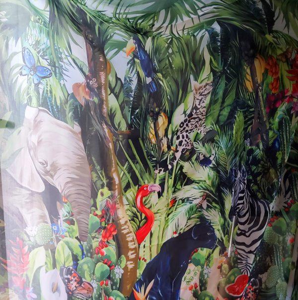 20200308 193334 Jungle Elephant Print Chiffon fabric/ 2020collection fabric/Italian Designer Fabrics 8
