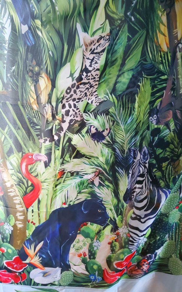 20200308 193442 Jungle Elephant Print Chiffon fabric/ 2020collection fabric/Italian Designer Fabrics 9