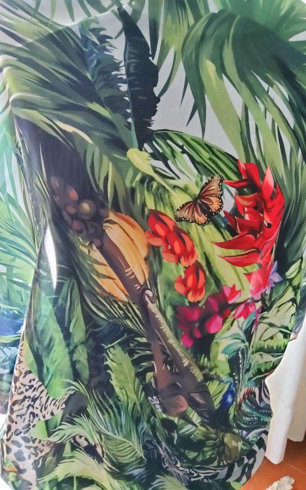 20200308 193505 Jungle Elephant Print Chiffon fabric/ 2020collection fabric/Italian Designer Fabrics 10