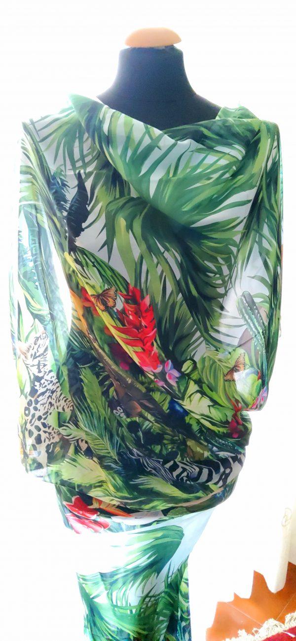 20200308 193533 Jungle Elephant Print Chiffon fabric/ 2020collection fabric/Italian Designer Fabrics 11
