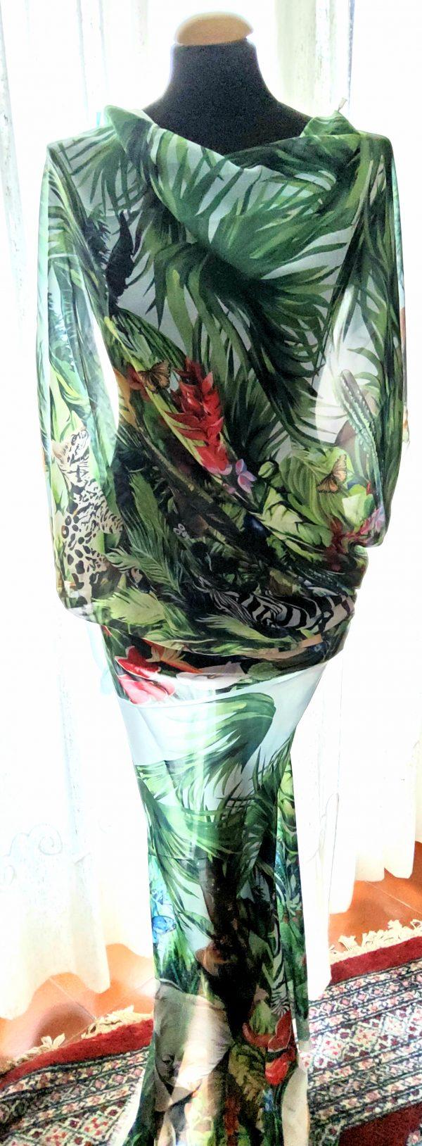 20200308 193616 Jungle Elephant Print Chiffon fabric/ 2020collection fabric/Italian Designer Fabrics 12
