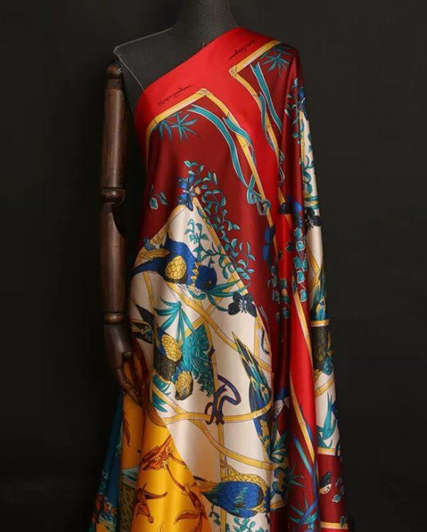 Salvadore Ferragamo Position Printed Silk Satin