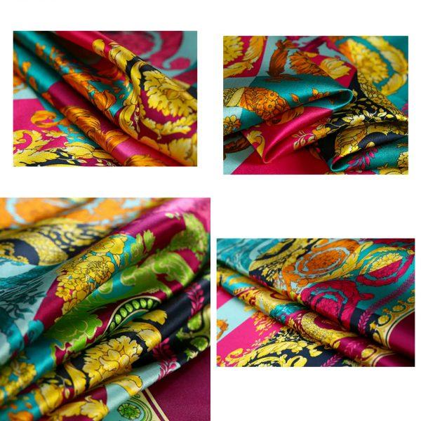 PhotoCollage 20200320 003918894 Versace Silk Fabric/New Collection Italian Designer Fabric/Vercase Digital Inkjet Silk Fabric/Fashion Week Italian Haute Couture Fabric 2