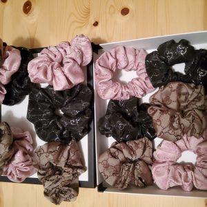 Gucci Hair Scrunchies/Hand made hair scrunchies Gucci fabric