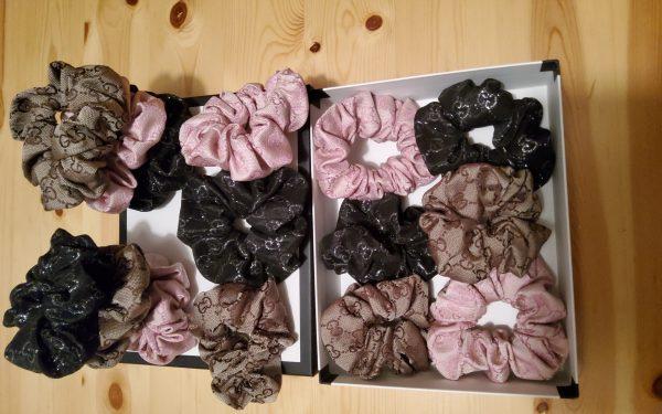 Hand made hair scrunchies Gucci fabric