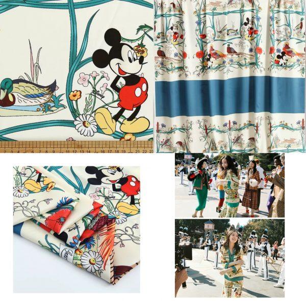 20200508 231704 Gucci New Collection/Gucci Disney Silk fabric/Gucci animal print/Gucci Mickey fabric Silk 2