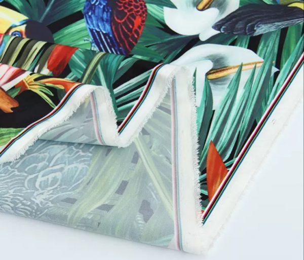 Dolce Gabbana Parrot Print Silk