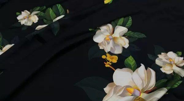 20200509 013832 Oscar De La Renta Fabric/New Collection Italian Silk Fabric Inkjet 3D Effect/Designer Stretch Silk Fabric with Floral Pattern/ Lilies Silk Fabric 9