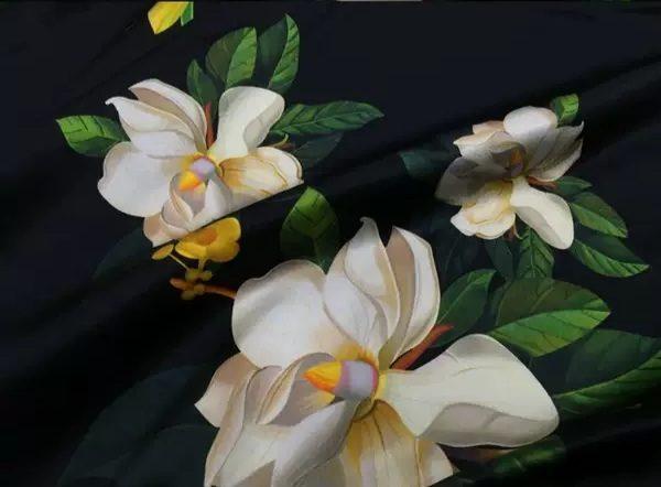 20200509 013850 Oscar De La Renta Fabric/New Collection Italian Silk Fabric Inkjet 3D Effect/Designer Stretch Silk Fabric with Floral Pattern/ Lilies Silk Fabric 7