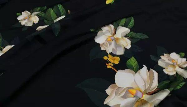 20200509 013901 Oscar De La Renta Fabric/New Collection Italian Silk Fabric Inkjet 3D Effect/Designer Stretch Silk Fabric with Floral Pattern/ Lilies Silk Fabric 8