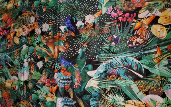 Dolce Gabbana Jungle Pure Silk Fabric