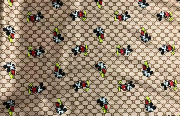 Gucci Silk Mickey Fabric