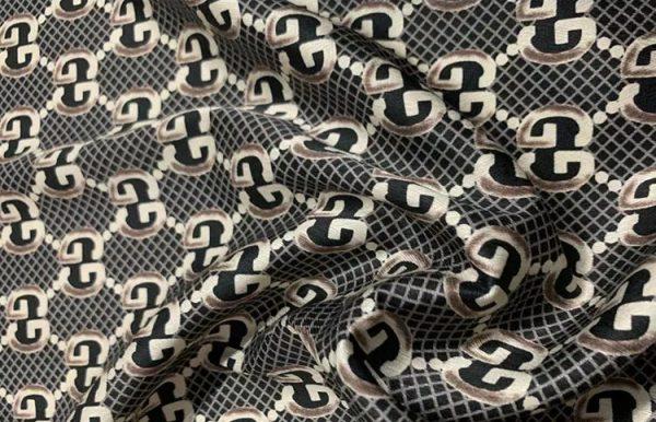 Gucci Silk Logo print
