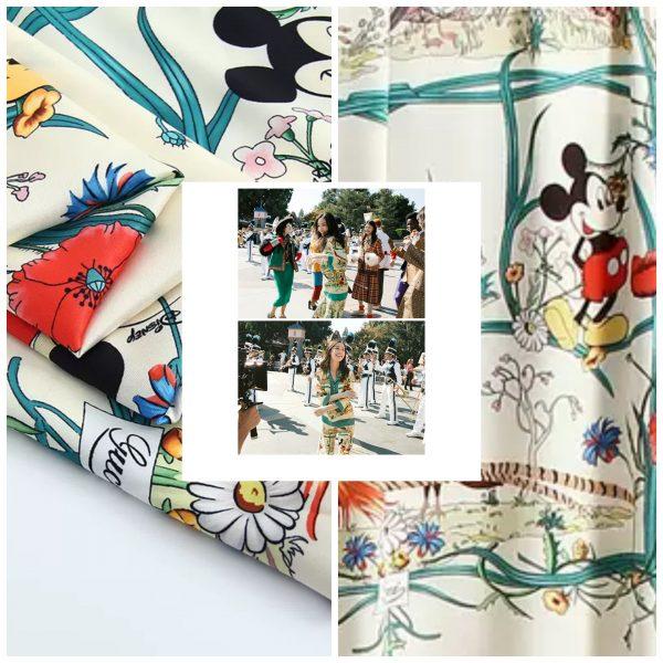 PhotoCollage 20200508 232921646 Gucci New Collection/Gucci Disney Silk fabric/Gucci animal print/Gucci Mickey fabric Silk 3