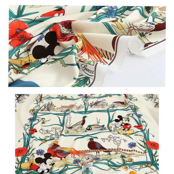 PhotoCollage 20200508 233209558 Gucci New Collection/Gucci Disney Silk fabric/Gucci animal print/Gucci Mickey fabric Silk 6
