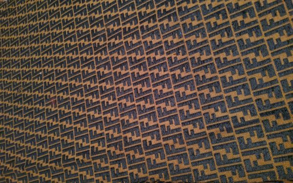Collection Fendi Jacquard Fabric with Embossed Velvet effect letters Logo
