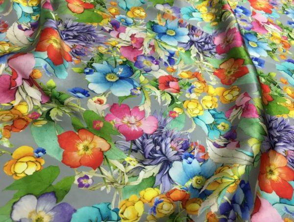 Floral Inkjet Silk Fashion Week Fabric Входящие x