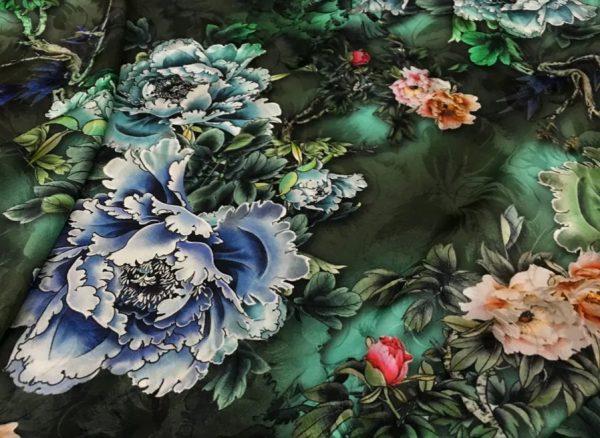 Italian Silk Fabric New Collection Fashion Week