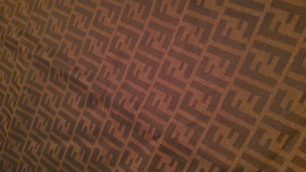 Double Sided Fendi Quality Italian Fabric for Clothing and an accessories