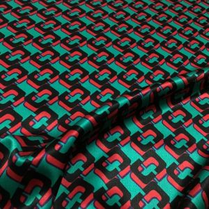 Gucci Silk Fabric New Collection/Italian Fashion Fabric/Designer Silk Stretch Fabric