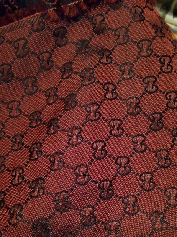 Gucci fabric Dark Burgundy colour