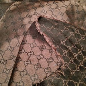 Gucci Dark Brown Fabric,New Arivals all colours,Double Sided,soft and thin Gucci fabric appropriate for summer/150/120cm