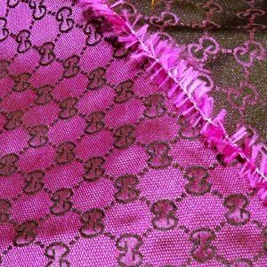 Gucci Raspberry Colour,Gucci soft summer fabric,double sided GG logo thin fabric/150/120cm