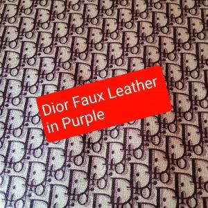 DIOR Leather Imitation Purple Logo