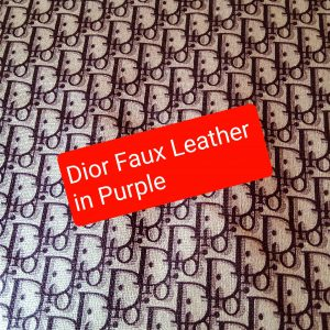 DIOR Leather Imitation Purple Logo/Dior faux leather/D logo sneakers fabric/Customs Made Faux Leather D