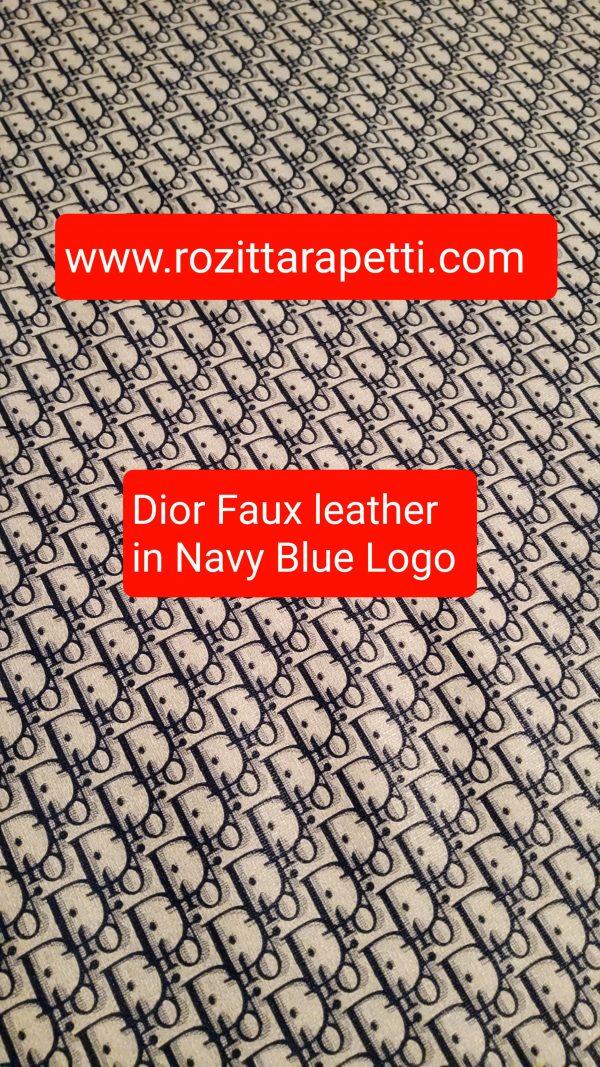 DIOR Leather Imitation Blue