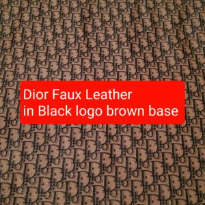 DIOR Leather Imitation Brown/Dior faux leather/D logo sneakers fabric/Customs Made Faux Leather D