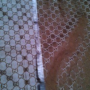 Gucci Fabric New Arivals Thin,double sided,Dark Navy Black Logo/150/140cm
