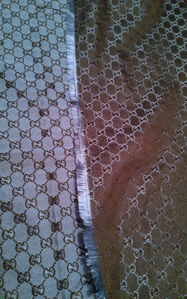 20200728 173434 Gucci Fabric New Arivals Thin,double sided,Dark Navy Black Logo/150/140cm 2