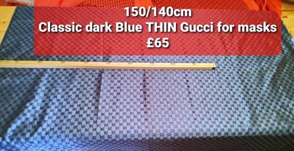 20200728 173642 Gucci Fabric New Arivals Thin,double sided,Dark Navy Black Logo/150/140cm 1