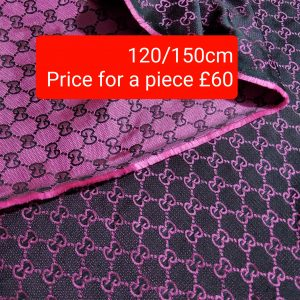 Gucci Jacquard Violet Raspberry thin Double sided,price indicated for piece/Gucci for face mask/ 120/150cm
