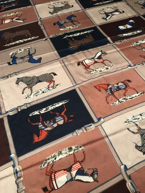 Hermes Silk Horse print Fabric