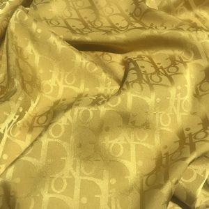 DIOR SILK NEW COLLECTION/Limited Edition Dior Fabric in 18colours/KHAKI BRONZE COLOUR