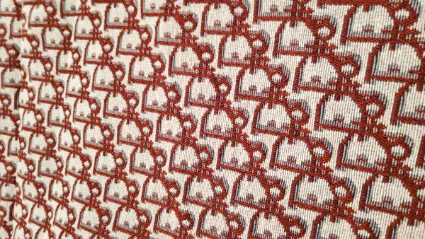 Dior Jacquard Red logo/Designer Jacquard