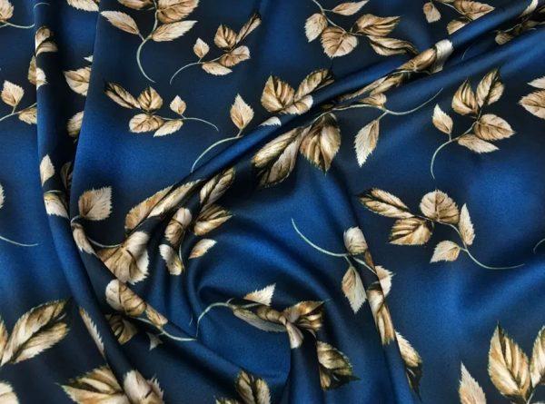 Italian Fashion Week Silk Elastan Fabric