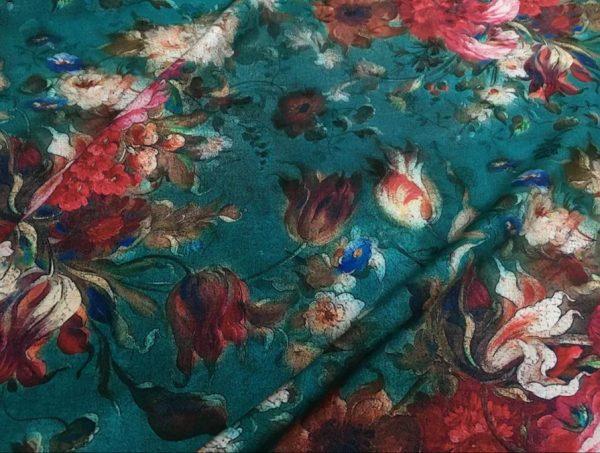WONDERFUL UNSEEN Italian Designer Silk Fabric
