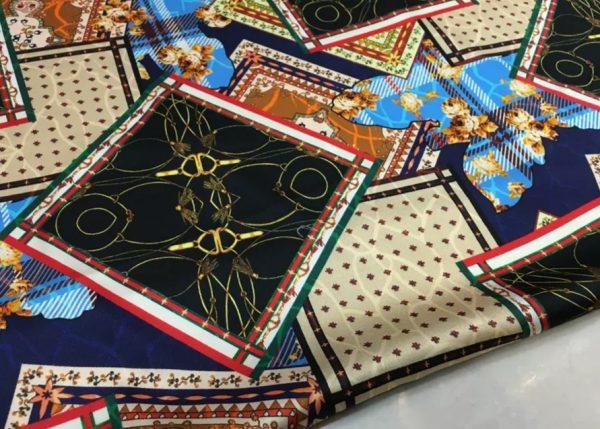 Hermes Silk Fabric Patwork EFFECT