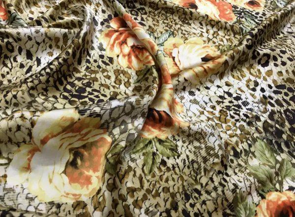 Roberto Cavalli Silk Leopard print