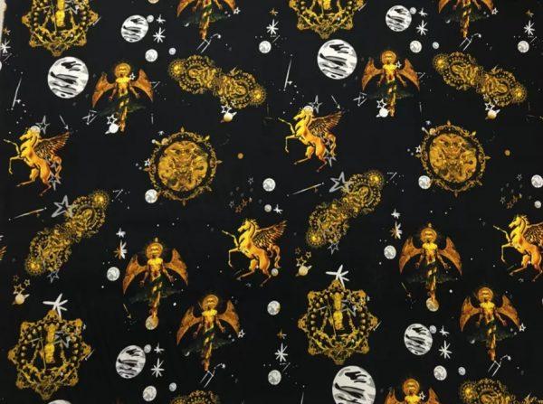 Gucci Silk Horse print Budha Pattern