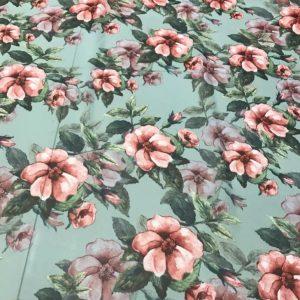 Italian Chiffon Fashion week fabric/Floral pattern Chiffon Silk Fabric