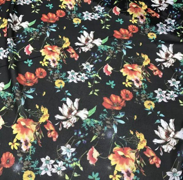 Beautiful Light Summer Chiffon Floral Design