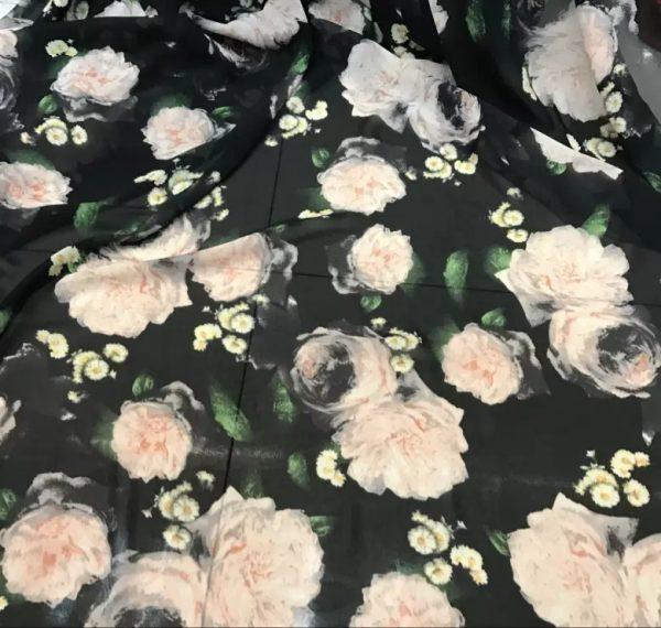 Beautiful Italian Floral Chiffon