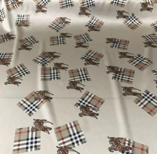 Burberry Silk Stretch Horse Print Fabric