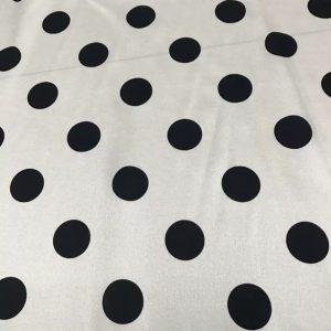 Italian Polka Dot Silk Stretch Fabric